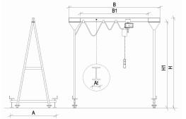портальный кран чертеж